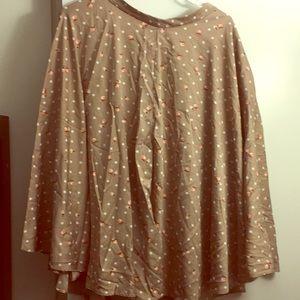 Eva Mendes Polka Dot Flare Skirt